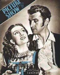 Picture Show magazine with Jean Kent and  Stewart Granger in Caravan.  June, 1946.