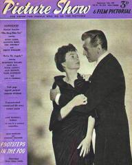 Picture Show magazine with Jean Simmons and  Stewart Granger in Footsteps in the Fog.  September, 1955.