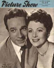 Picture Show magazine with Dane Clark and  Margaret Lockwood in Highly Dangerous.  13th January, 1951.