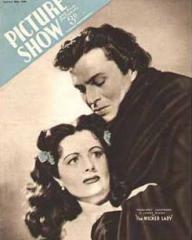 Picture Show magazine with Margaret Lockwood and  James Mason in The Wicked Lady.  26th January, 1946.
