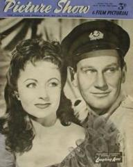 Picture Show magazine with Margaret Lockwood and  Wendell Corey in Laughing Anne.  17th October, 1953.