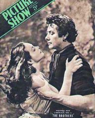 Picture Show magazine with Patricia Roc and  Maxwell Reed in The Brothers.  July, 1947.