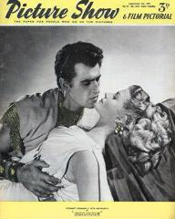 Picture Show magazine with Stewart Granger and  Rita Hayworth in Salome.  1953.