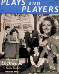 Plays and Players magazine with Margaret Lockwood in Spider's Web.  10th January, 1955.