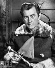 Stewart Granger (as Rudolf Rassendyll / King Rudolf V) in a photograph from The Prisoner of Zenda (1952) (2)