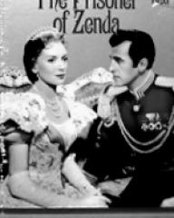 Deborah Kerr (as Princess Flavia) and Stewart Granger (as Rudolf Rassendyll / King Rudolf V) in a video cover from The Prisoner of Zenda (1952) (3)