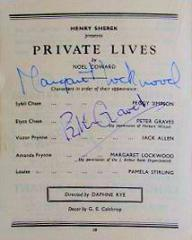 Programme from Private Lives (1949) at the Theatre Royal, Brighton (1)