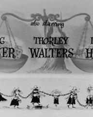 Main title from The Pure Hell of St Trinian's (1960) opening credits (5). Eric Barker, Thorley Walters, Irene Handl