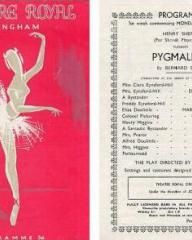 Programme from Pygmalion (1951) at the Theatre Royal, Birmingham (1)