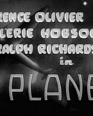 Main title from Q Planes (1939).  Laurence Olivier, Valerie Hobson, Ralph Richardson.