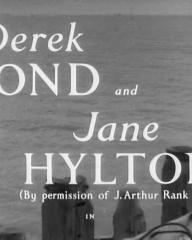 Main title from The Quiet Woman (1951) (2).  Derek Bond and Jane Hylton (By permission of J Arthur Rank Org) in