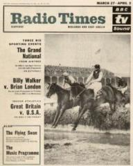 Radio Times magazine featuring The Flying Swan.  27th March, 1965.