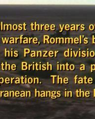 Main title from Raid on Rommel (1971) (3). After almost three years of bitter desert warfare, Rommel's brilliant use of his Panzer divisions has driven the British into a position of desperation. The fate of the Mediterranean hangs in the balance