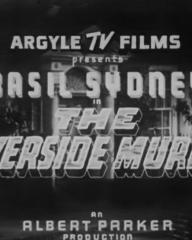 Main title from The Riverside Murder (1935) (1). Argyle TV Films presents