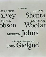 Main title from Romeo and Juliet (1954) (7).  Starring Laurence Harvey Flora Robson, Susan Shentall, Norman Wooland, Mervyn Johns.  Chorus played by John Gielgud