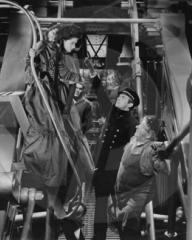 Margaret Lockwood (as Mary Shaw), Douglas Fairbanks Jr (as David 'Davie' Gillespie) and Will Fyffe (as John Shaw) in a photograph from Rulers of the Sea (1939) (16)