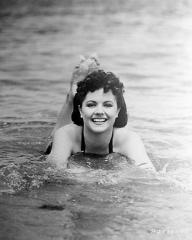 Margaret Lockwood enjoys a swim in Hollywood while on a break from filming Rulers of the Sea
