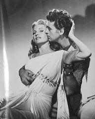 Rita Hayworth (as Princess Salome) and Stewart Granger (as Commander Claudius) in a photograph from Salome (1953) (10)