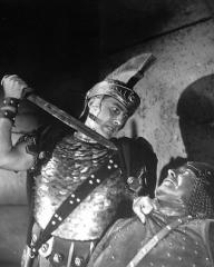Futile effort – Stewart Granger (Claudius) tries to effect escape of John the Baptist from King Herod's prison in Columbia's Technicolour production, Salome