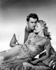 Stewart Granger (as Commander Claudius) and Rita Hayworth (as Princess Salome) in a photograph from Salome (1953) (9)