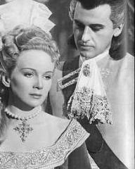 Joan Greenwood (as Sophie Dorothea) and Stewart Granger (as Count Philip Konigsmark) in a photograph from Saraband for Dead Lovers (1948) (19)