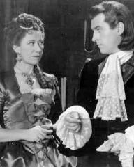 Flora Robson (as Countess Platen) and Stewart Granger (as Count Philip Konigsmark) in a photograph from Saraband for Dead Lovers (1948) (9)