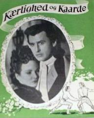 Joan Greenwood (as Sophie Dorothea) and Stewart Granger (as Count Philip Konigsmark) in a Polish poster for Saraband for Dead Lovers (1948) (1)