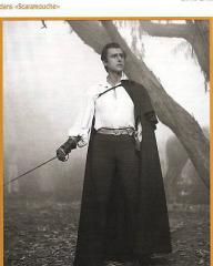Stewart Granger (as Andre Moreau) in a French pressbook for Scaramouche (1952) (1)