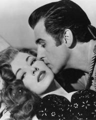 Eleanor Parker (as Lenore) and Stewart Granger (as Andre Moreau) in a photograph from Scaramouche (1952) (5)