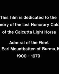Main title from The Sea Wolves (1980) (1).  This film is dedicated to the memory of the last Honorary Colonel of the Calcutta Light Horse Admiral of the Fleet, The Earl Mountbatten of Burma, KG, 1900-1979