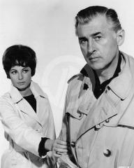 Haya Harareet (as Nicole) and Stewart Granger (as John Brent) in a photograph from The Secret Partner (1961) (3)