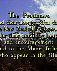 Main title from The Seekers (1954) (13). The Producers extend their most grateful thanks to the New Zealand Government for their unfailing help and encouragement and to the Maori tribes who appear in the film