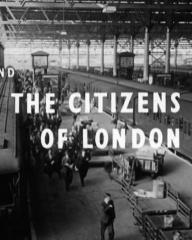 Main title from Seven Days to Noon (1950) (11).  And the citizens of London