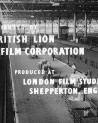Main title from Seven Days to Noon (1950) (7).  Distributed by British Lion Film Corporation produced at London Film Studios, Shepperton, England