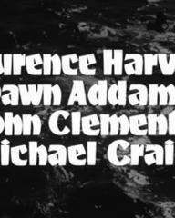 Main title from The Silent Enemy (1958) (3). Laurence Harvey, Dawn Addams, John Clements, Michael Craig