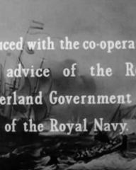 Main title from The Silver Fleet (1943) (5).  Produced with the co-operation and advice of the Royal Netherland Government and of the Royal Navy