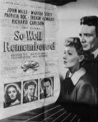 Poster for So Well Remembered (1947) (1)