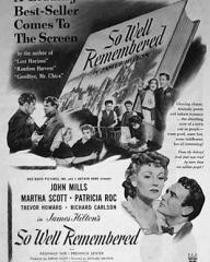 Poster for So Well Remembered (1947) (2)