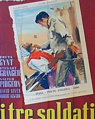Italian poster for Soldiers Three (1951) (1)
