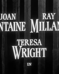 Main title from Something to Live For (1952) (2). Joan Fontaine, Ray Milland, Teresa Wright in