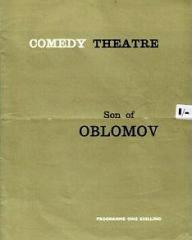 Programme from Son of Oblomov (1965) at the Comedy Theatre, London (1)