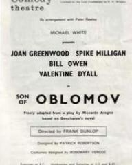 Programme from Son of Oblomov (1965) at the Comedy Theatre, London (2)