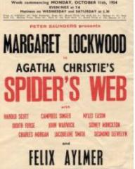 Programme from Spider's Web (1954) at the Royal Court Theatre, Liverpool (1)