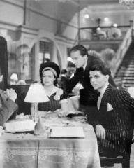 Photograph from The Stars Look Down with Michael Redgrave, Margaret Lockwood, Carol Reed and Emlyn Williams