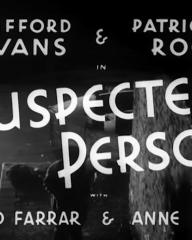 Main title from Suspected Person (1942) (2). Clifford Evans and Patricia Roc in Suspected Person with David Farrar and Anne Firth