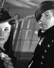 Vivien Leigh (as Emma Lady Hamilton) and Laurence Olivier (as Lord Horatio Nelson) in a photograph from That Hamilton Woman (1941)