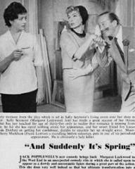 Theatre World magazine with Margaret Lockwood and  Yolande Donlan in And Suddenly It's Spring.  1960.