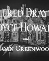 Main title from They Knew Mr Knight (1946) (3). Alfred Drayton, Joyce Howard and Joan Greenwood