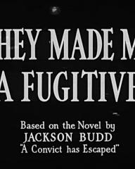 Main title from They Made Me a Fugitive (1947). Based on the novel by Jackson Budd 'A Convict has Escaped'
