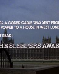 Main title from The Thirty-Nine Steps (1978) (2).  Early in 1914 a coded cable was sent from a European power to a house in west London.  Decoded it read: 'Let the Sleepers Awake'.
